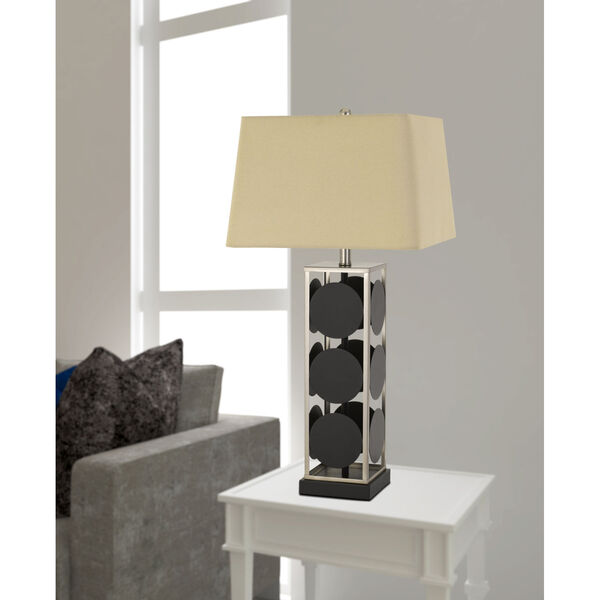 Hanson Black and Antique Silver One-Light Table lamp, image 2