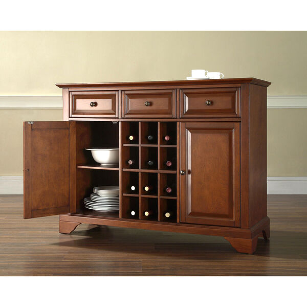 LaFayette Buffet Server / Sideboard Cabinet with Wine Storage in Classic Cherry Finish, image 4