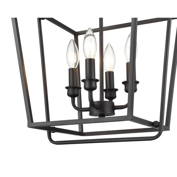 Matte Black 15-Inch Four-Light Pendant, image 3