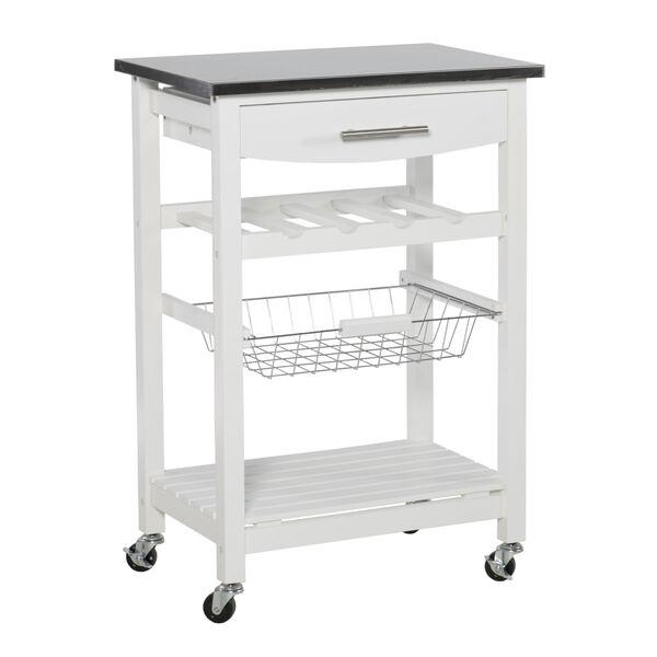 Autumn White Kitchen Cart, image 6