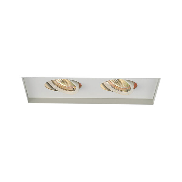 White Two-Light-Inch Low Voltage Multiples Trim, image 1