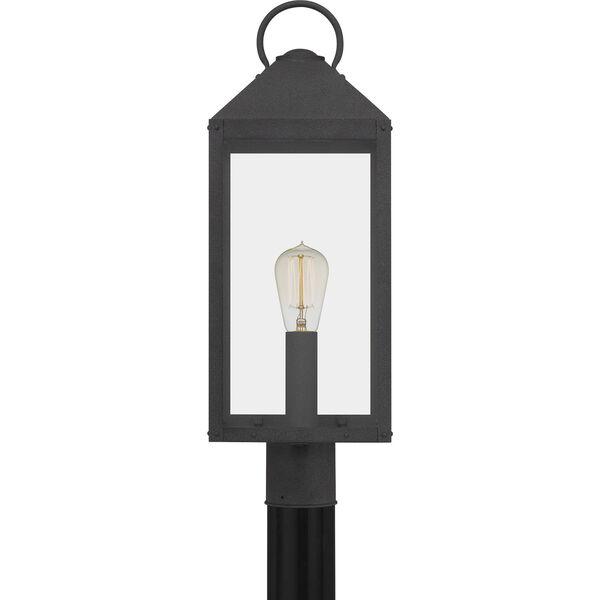 Thorpe Mottled Black One-Light Outdoor Post Mount, image 3