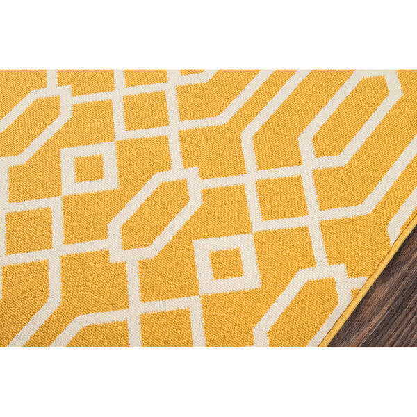 Baja Links Yellow Indoor/Outdoor Rug, image 3