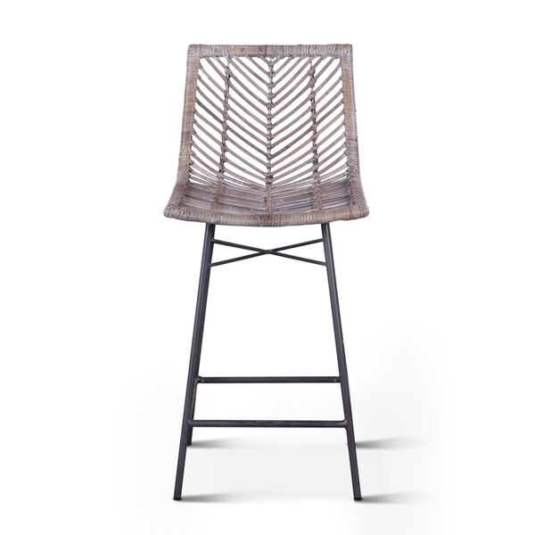 Bali Gray Whitewash Counter Chair, Set of 2, image 1