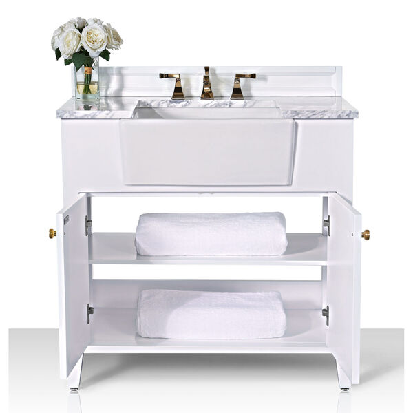 Adeline White 36-Inch Vanity Console with Farmhouse Sink, image 5