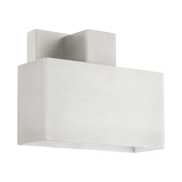 Lynx Brushed Nickel Seven-Inch One-Light Outdoor ADA Wall Sconce, image 2