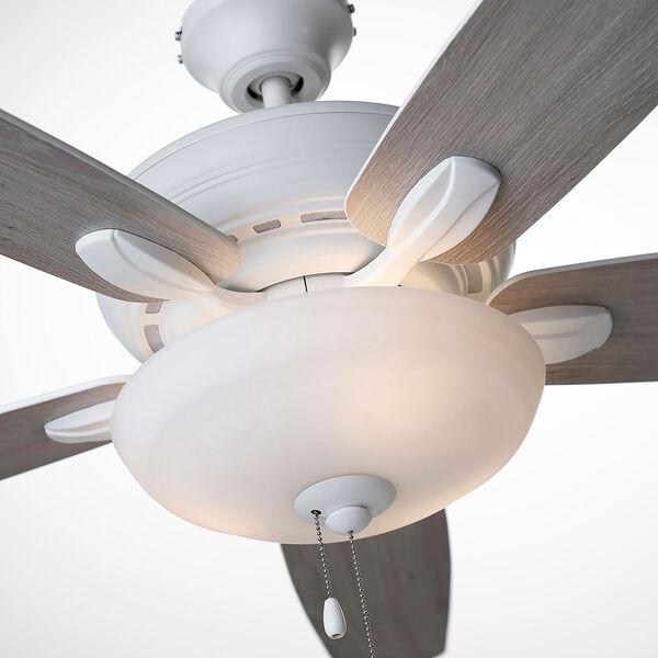 Pro Series Satin White Three Light Ceiling Fan, image 6
