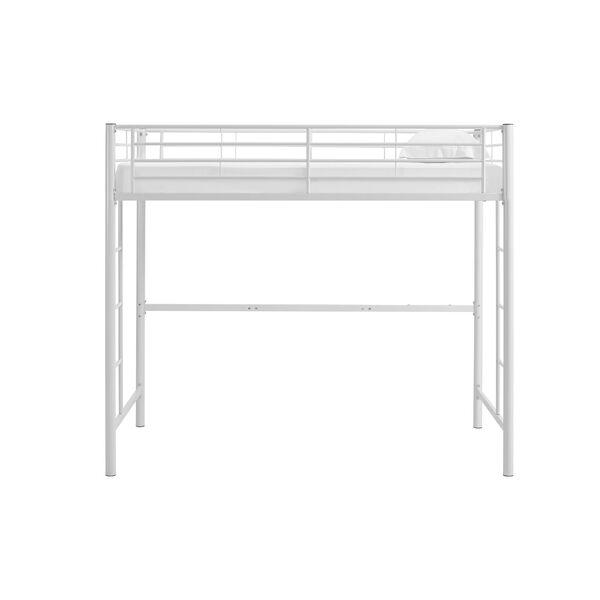 Sunset White Metal Twin Loft Bunk Bed, image 4