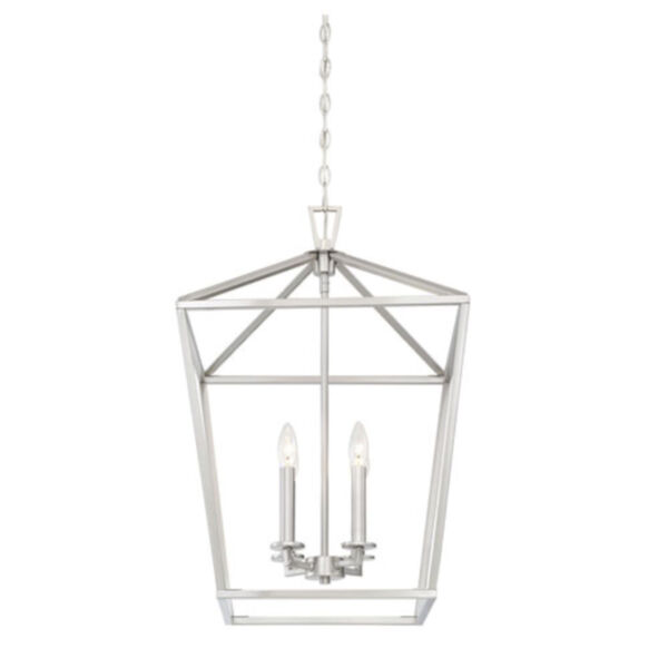 Anna Brushed Nickel 17-Inch Four-Light Pendant, image 5
