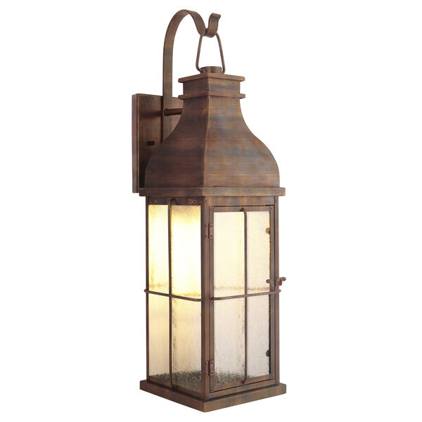 Vincent Weathered Copper Five-Inch LED Outdoor Wall Lantern, image 1