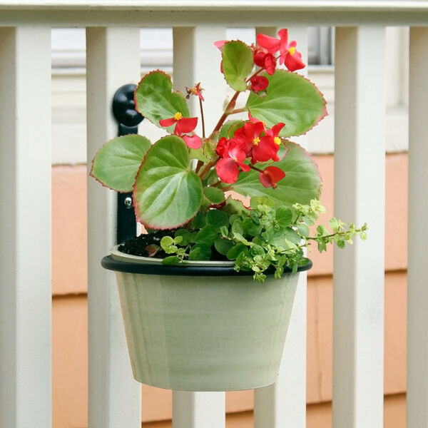 Black Powdercoat 6-Inch Flower Pot Ring, Set of Two, image 5