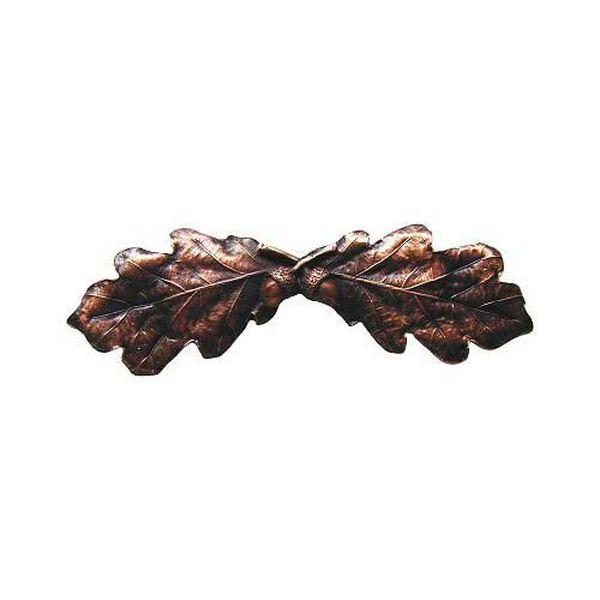 Antique Copper Oak Leaf Pull, image 1
