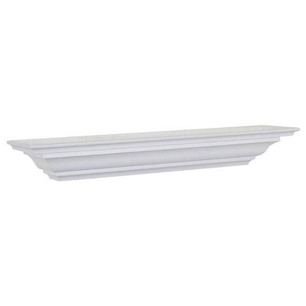 White Crown Molding Shelf, 5 x 24 x 4-Inches, image 1