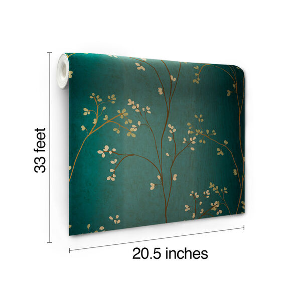 Inspired by Color Teal, Bronze Metallic and Powder Green Wallpaper, image 6