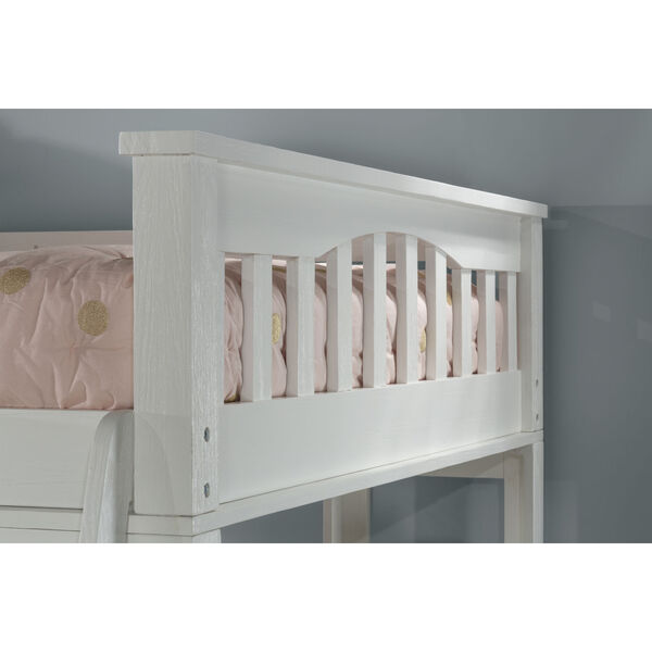 Highlands White Full Loft Bed With Desk, image 3