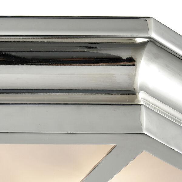 Windsor Polished Nickel 20-Inch Three-Light Flush Mount, image 4