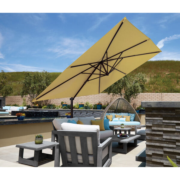 Skye Beige and Black Cantilever Umbrella, image 3