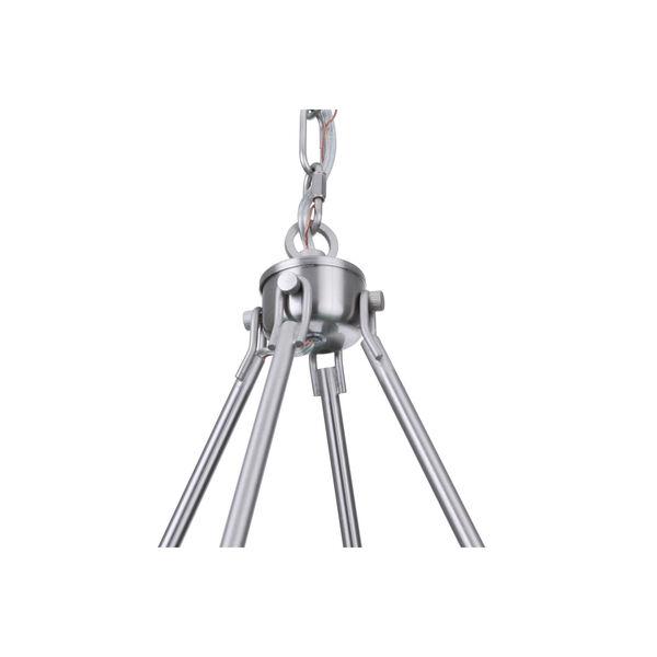 Larrson Brushed Polished Nickel Six-Light Chandelier, image 5