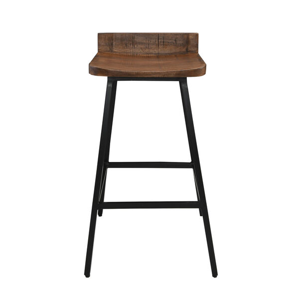 Pennie Caramel Brown and Black Counterstool, image 2
