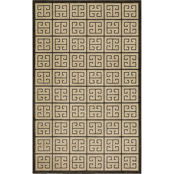 Meander Gray Charcoal Geometric Rectangular: 3 Ft. x 5 Ft. Area Rug, image 1