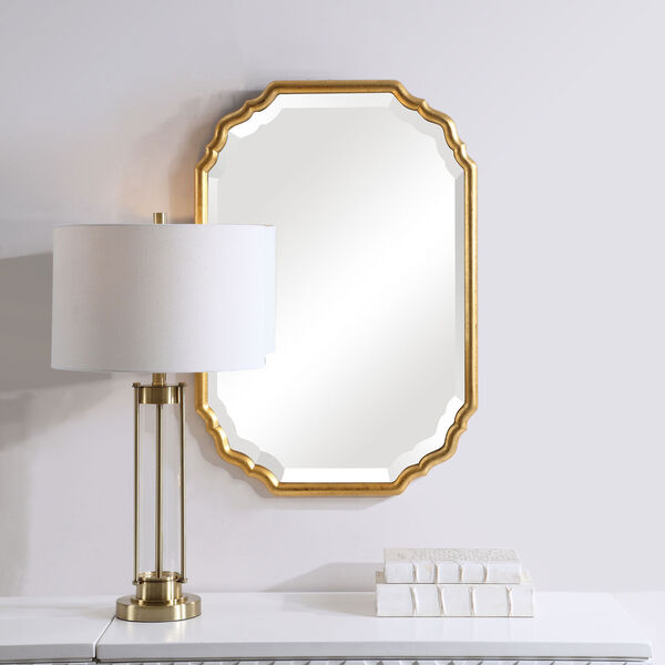 Cooper Gold Framed Wall Mirror, image 1