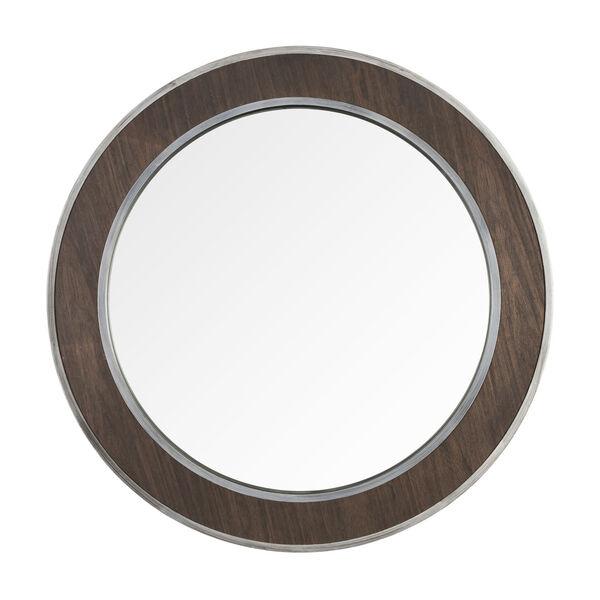 Macie Farmhouse Steel Round Wall Mirror, image 1