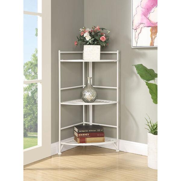 3 Tier Corner Folding Metal Corner Shelf, image 3