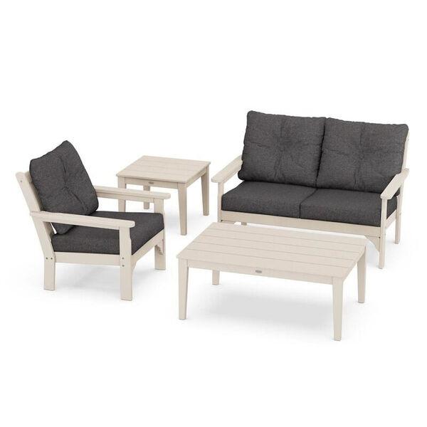 Vineyard Sand and Ash Charcoal Outdoor Deep Seating Set, 4-Piece, image 1