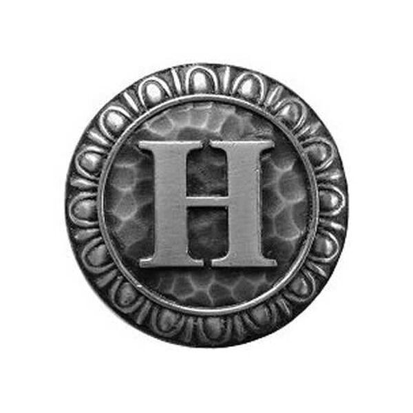 Antique Pewter 'H' Knob , image 1