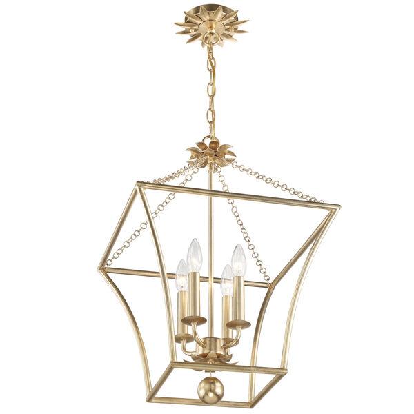Broche Antique Gold Four-Light Pendant, image 3