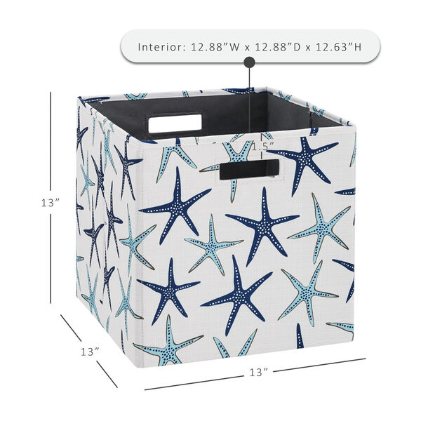 Liam Multicolor Starfish Storage Bin, Pack of 2, image 6