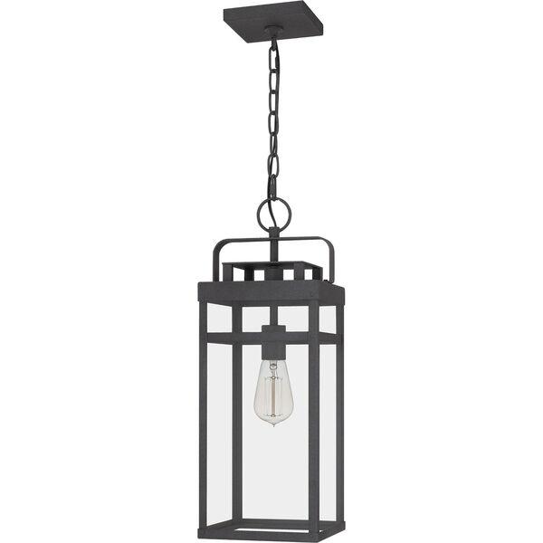 Keaton Mottled Black One-Light Outdoor Pendant, image 2