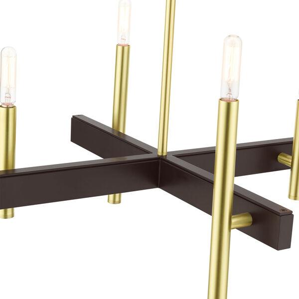 Denmark Satin Brass Four-Light Chandelier, image 6