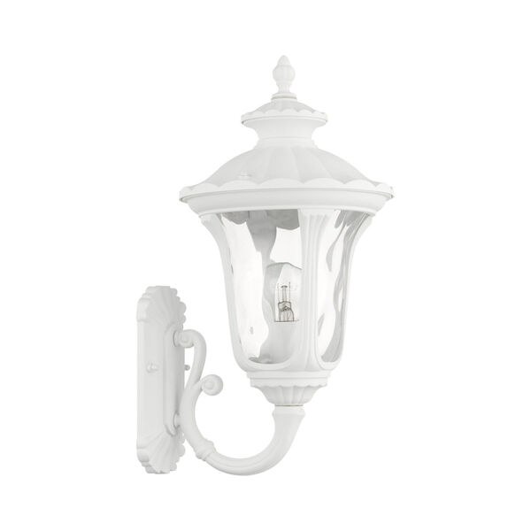 Oxford Textured White 10-Inch One-Light Outdoor Wall Lantern, image 2