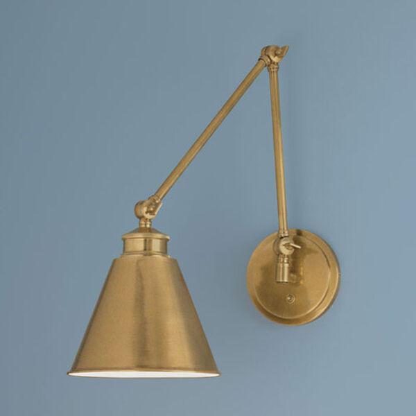 Aidan Aged Brass Swing Arm Wall Lamp - (Open Box), image 1