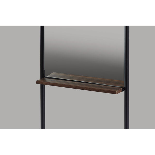 Monty Black and Walnut Leaning Mirror, image 4