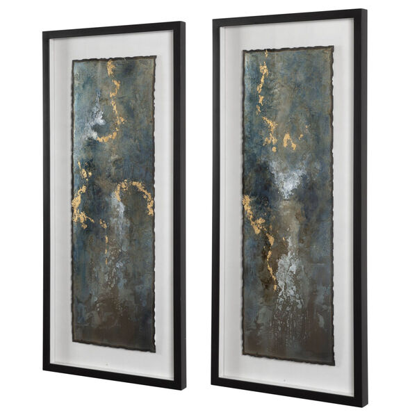Glimmering Agate Multicolor Abstract Print, Set of 2, image 3