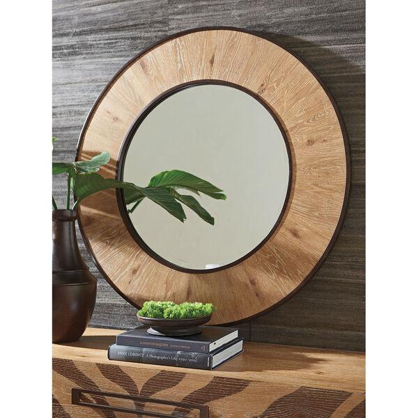 Los Altos Brown Carins Round Mirror, image 2