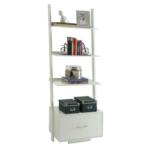 American Heritage White Ladder Bookshelf, image 2