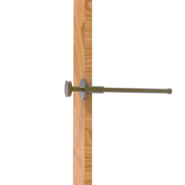 Fresno Antique Brass Pull-Out Garment Rod , image 1