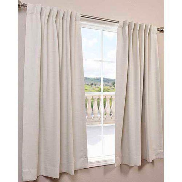 Cottage White 63 x 50-Inch Bellino Blackout Curtain Single Panel, image 2
