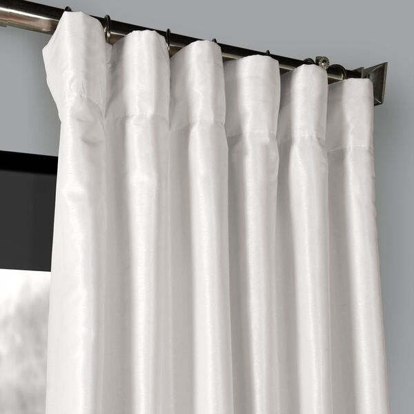 Ice 120 x 50 In. Blackout Vintage Textured Faux Dupioni Silk Curtain Single Panel, image 2