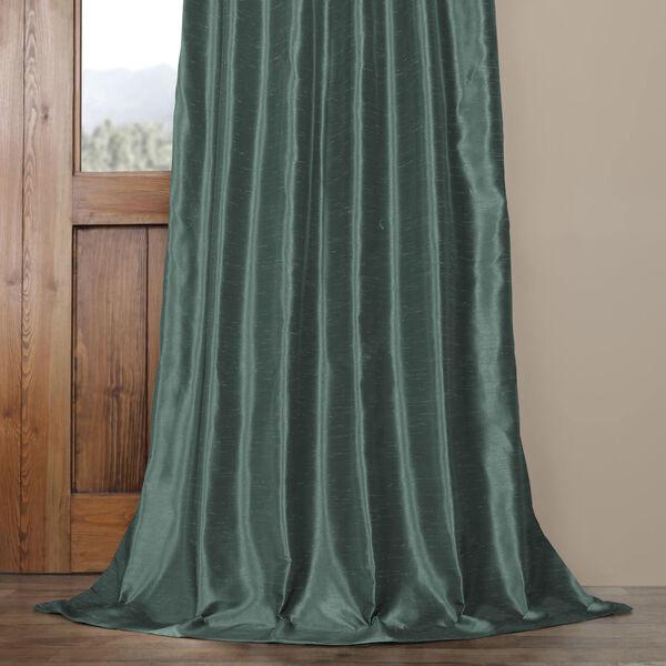 Teal 84 x 50 In. Faux Dupioni Silk Single Panel Curtain, image 5