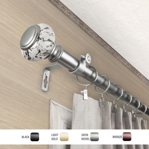 Kelly Satin Nickel 28-48 Inch Curtain Rod, image 3