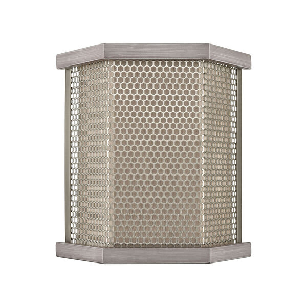 Crestler Weathered Zinc and Polished Nickel Two-Light Wall Sconce, image 2