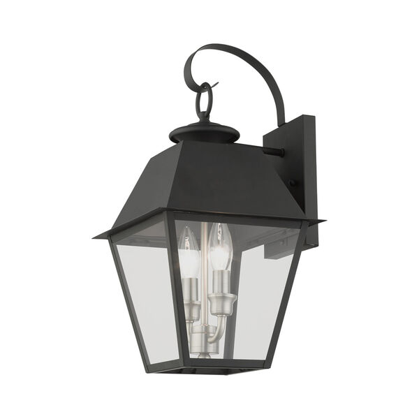 Mansfield Black Two-Light Outdoor Wall Lantern, image 5