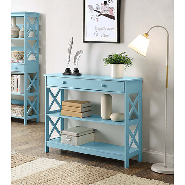 Oxford Sea Foam One Drawer Console Table, image 1