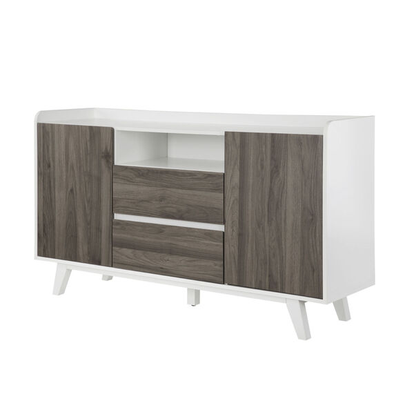 Friday Solid White and Slate Grey Two Door Sideboard, image 5