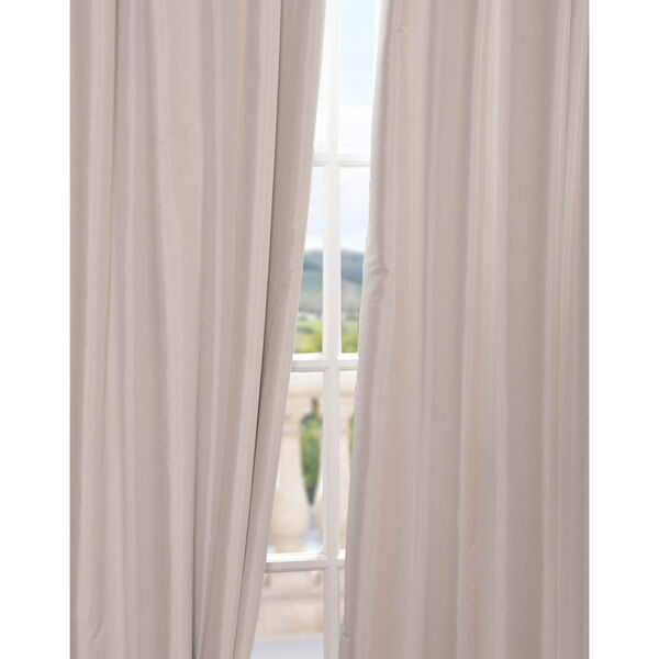 Eggshell 96 x 50-Inch Blackout Faux Silk Taffeta Curtain Single Panel, image 4