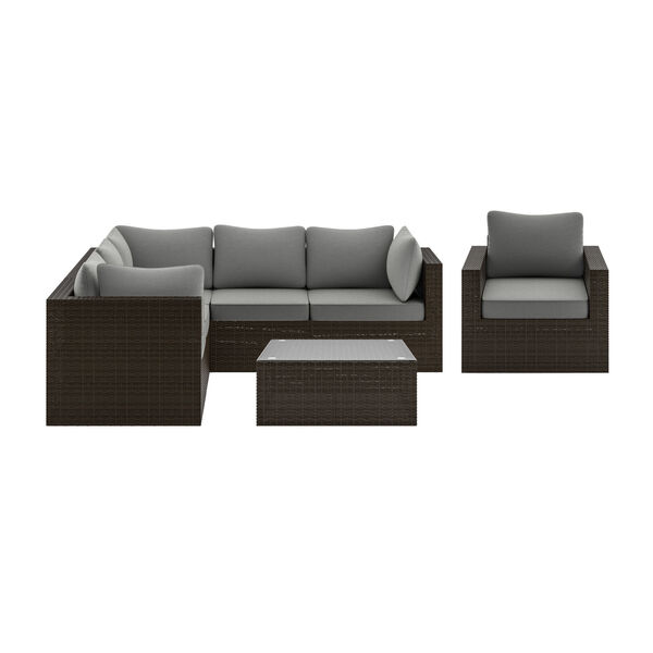 Cape Shores Brown Three-Piece Patio Sectional Set, image 1